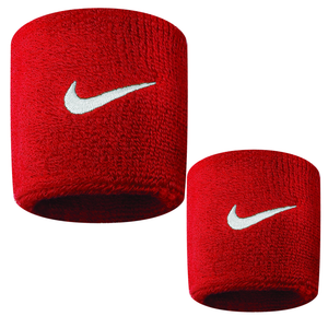 Nike Swoosh Sports Sweat Wristbands NK280 Red-Custom Teamwear