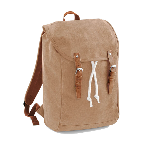 Quadra Vintage Canvas Backpack QD615 Embroidery Caramel-Custom Teamwear