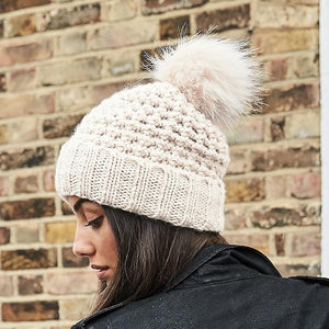 Rural Apparel Popcorn Style Pom Pom Beanie Hat - BrandClearance