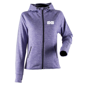 Adonis & Grace Reflective Gym Zip Hoody Purple-Custom Teamwear