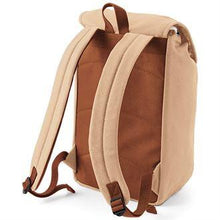 Load image into Gallery viewer, Quadra Vintage Canvas Backpack QD615 Embroidery Caramel-Custom Teamwear