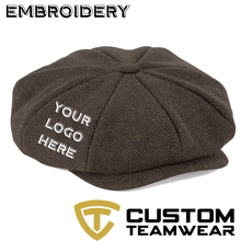 Load image into Gallery viewer, Peaky Blinder Style Cap (3 Colours) With Embroidery