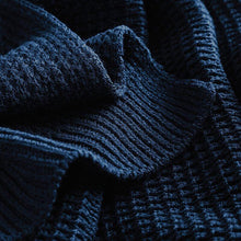 Load image into Gallery viewer, Adonis & Grace Classic Waffle Knit Scarf Navy - BrandClearance