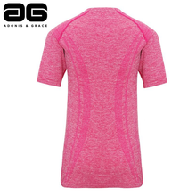 Load image into Gallery viewer, Adonis & Grace Womens Seamless Short Sleeve T-Shirt Pink-Custom Teamwear