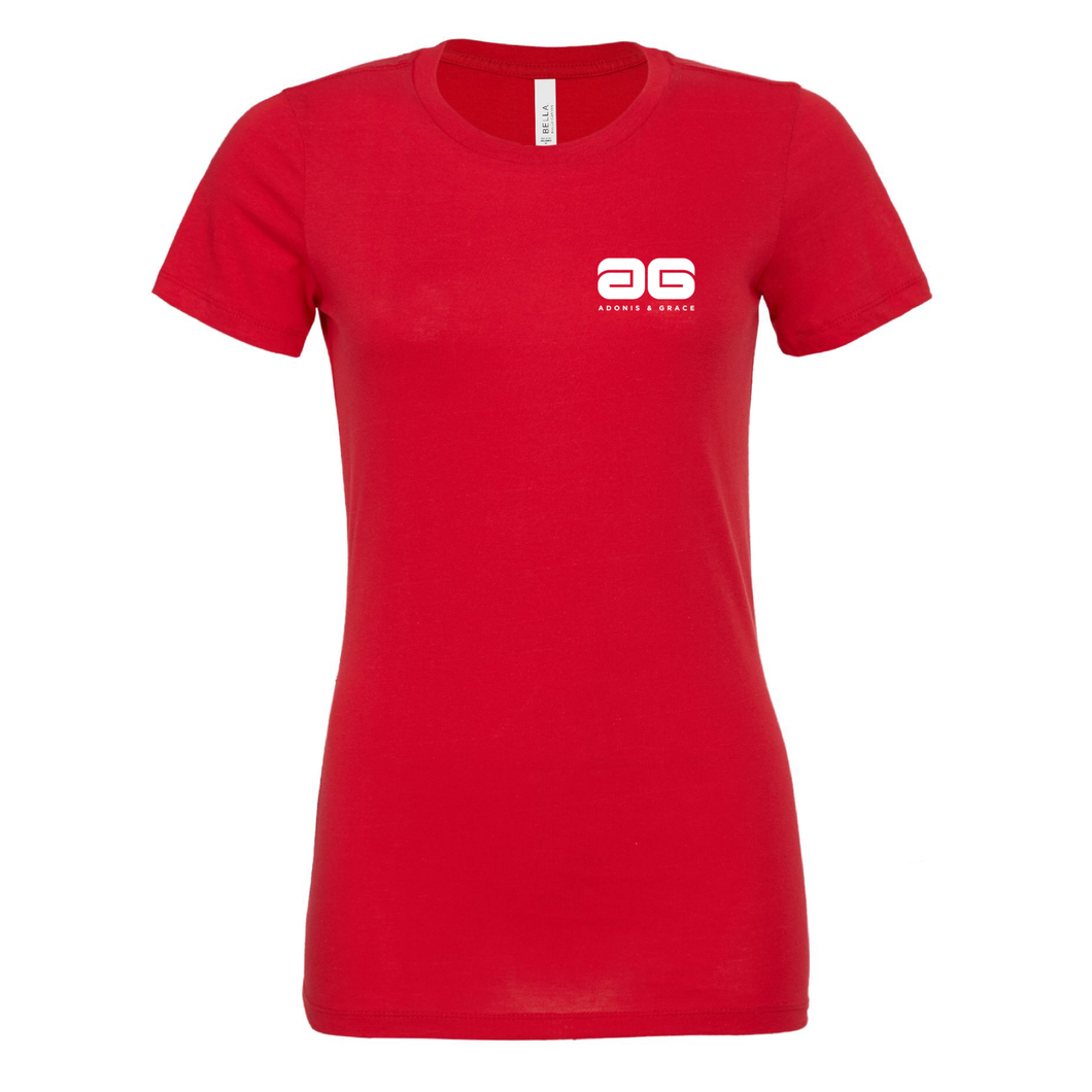 Adonis & Grace Womens Relaxed Summer T-Shirt Red
