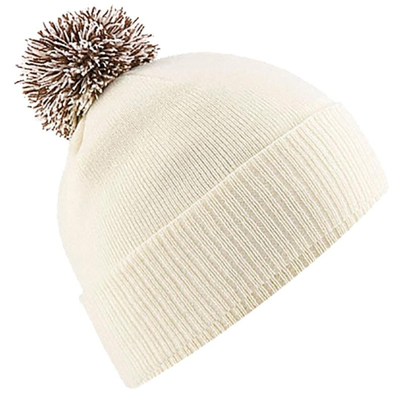 Beechfield Snowstar Beanie Wine Hat BC450 Off White-Custom Teamwear