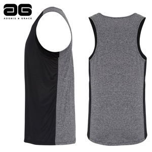 Adonis & Grace Cool Performance Contrast Vest Black-Custom Teamwear