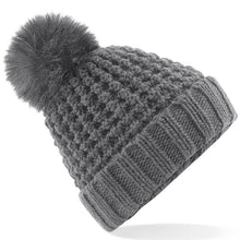 Load image into Gallery viewer, Rural Apparel Popcorn Style Pom Pom Beanie Hat - BrandClearance