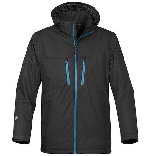 StormTech Snow Burst Thermal Shell Long Jacket ST167 Black Blue-Custom Teamwear