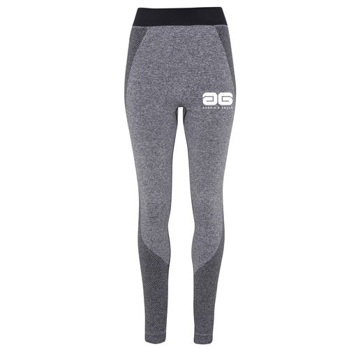 Adonis & Grace Ladies Seamless 3D Gym Leggings Charcoal