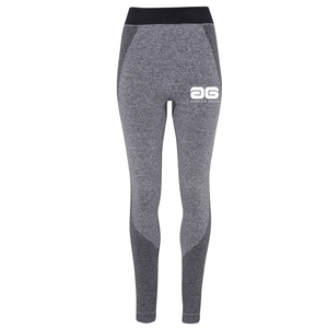 Adonis & Grace Ladies Seamless 3D Gym Leggings Charcoal-Custom Teamwear