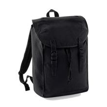 Load image into Gallery viewer, Quadra Vintage Canvas Backpack QD615 Embroidery Black/ Black-Custom Teamwear