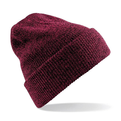 STREET Apparel Heritage Style Beanie Marl Hat-Hat-stREET Apparel-Burgandy-BrandClearance