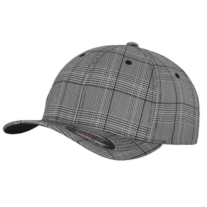 Flexfit Glen Check Fashion Cap YP041 Black White Fashion-Custom Teamwear