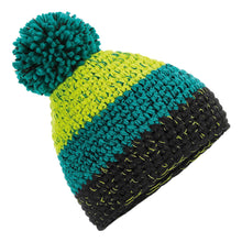 Load image into Gallery viewer, Beechfield Freestyle Ski Winter Bobble Hat BC436 Citron Emerald-Custom Teamwear