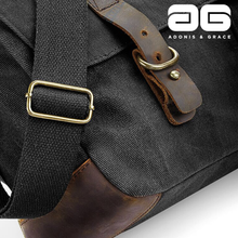 Load image into Gallery viewer, Adonis & Grace Heritage Waxed Canvas Bag Military Green-Custom Teamwear