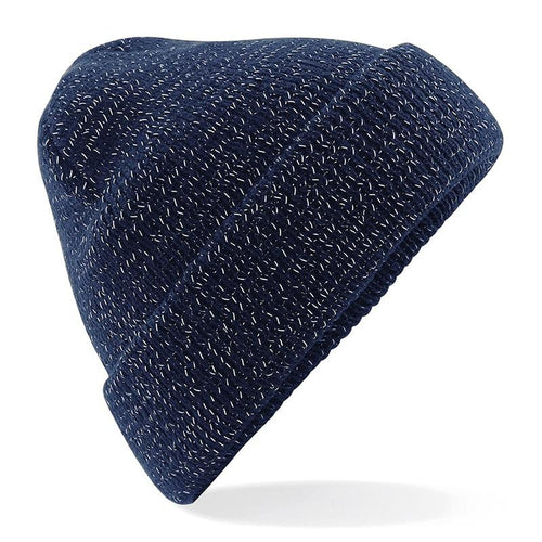 STREET Apparel Reflective Double Layer Beanie-Hat-stREET Apparel-Navy-BrandClearance