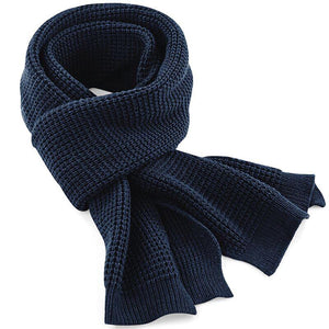 Adonis & Grace Classic Waffle Knit Scarf Navy - BrandClearance