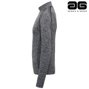 Adonis & Grace Seamless 3D Multi Fit Zip Top Grey-Custom Teamwear