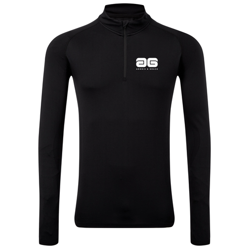 Adonis & Grace Seamless 3D Multi Fit Zip Top Black-Custom Teamwear