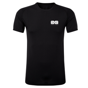 Adonis & Grace Seamless 3D Multi Fit Short Sleeve T-Shirt Black-Custom Teamwear