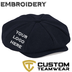 Peaky Blinder Style Cap (3 Colours) With Embroidery