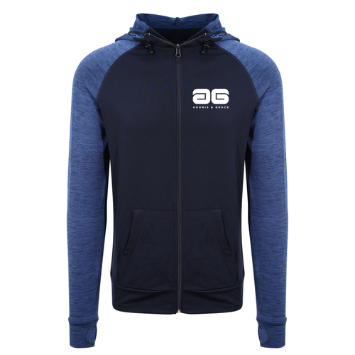Adonis & Grace Cool Hoodie Training Sweatshirt Luxury Navy