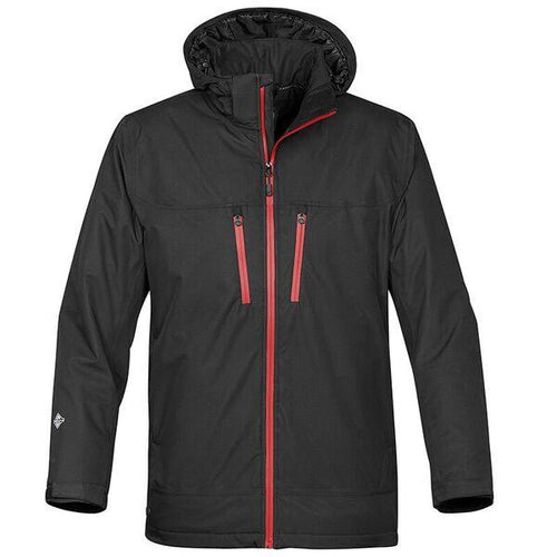 StormTech Snow Burst Thermal Shell Long Jacket ST167 Black Red-Custom Teamwear