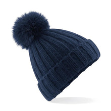 Load image into Gallery viewer, Adonis & Grace Luxury Verbier Pom Pom Beanie Navy - BrandClearance