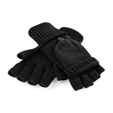 Load image into Gallery viewer, Rural Apparel Fliptop Winter Gloves Black - BrandClearance