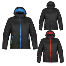 Load image into Gallery viewer, StormTech Black Ice Thermal Winter Jacket Black Blue ST168-Custom Teamwear