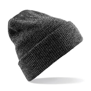 STREET Apparel Heritage Style Beanie Marl Hat-Hat-stREET Apparel-Charcoal-BrandClearance
