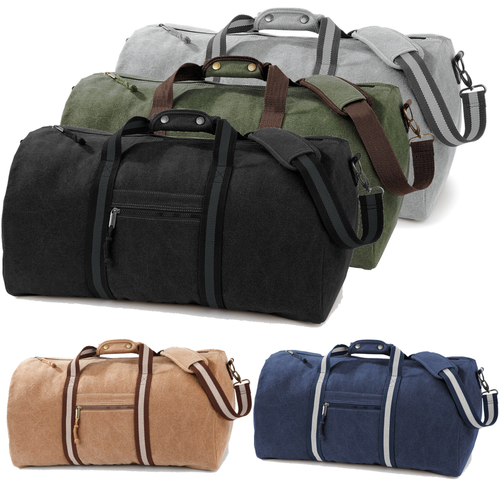 Adonis & Grace Luxury Vintage Canvas Holdall-Custom Teamwear