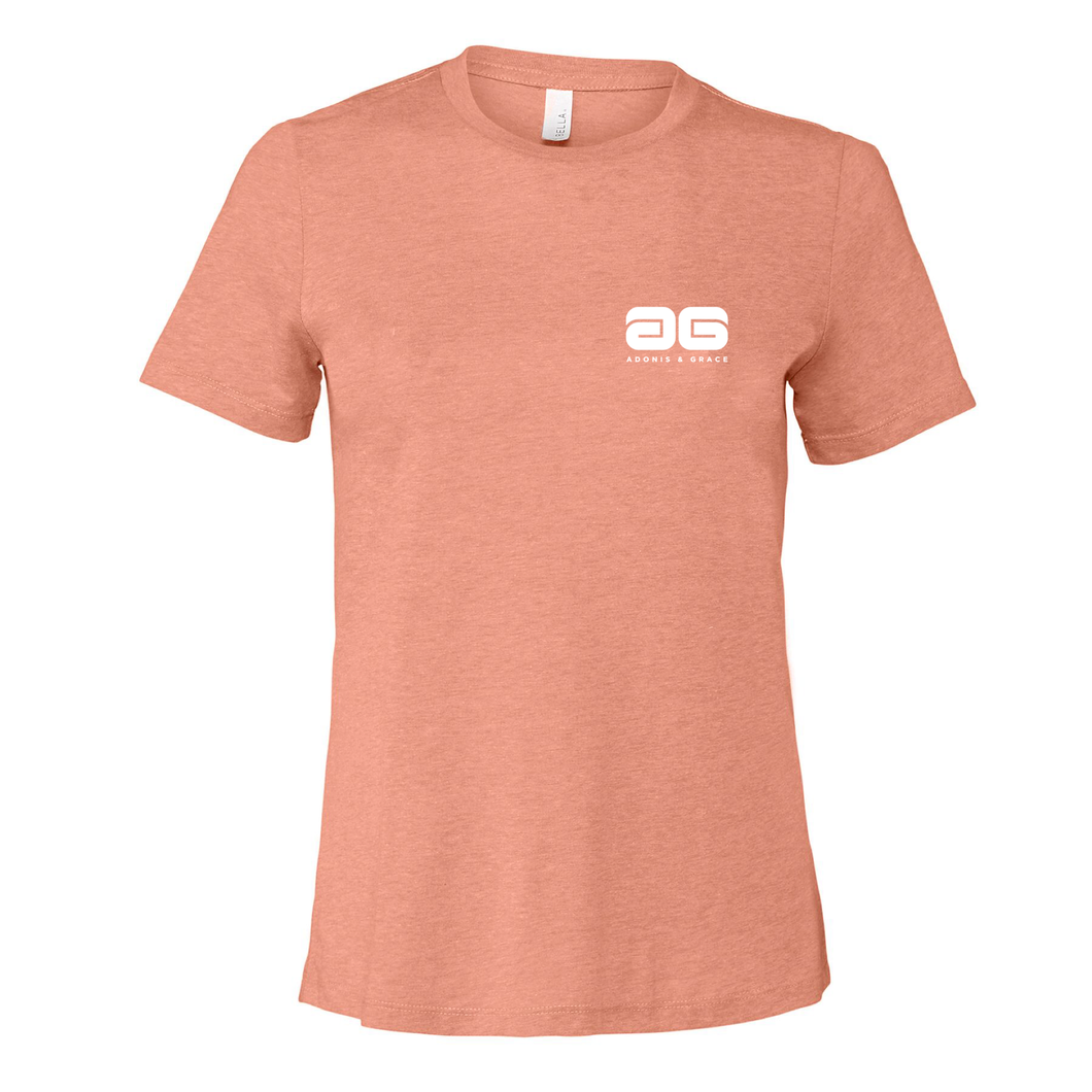 Adonis & Grace Womens Relaxed Summer T-Shirt Peach