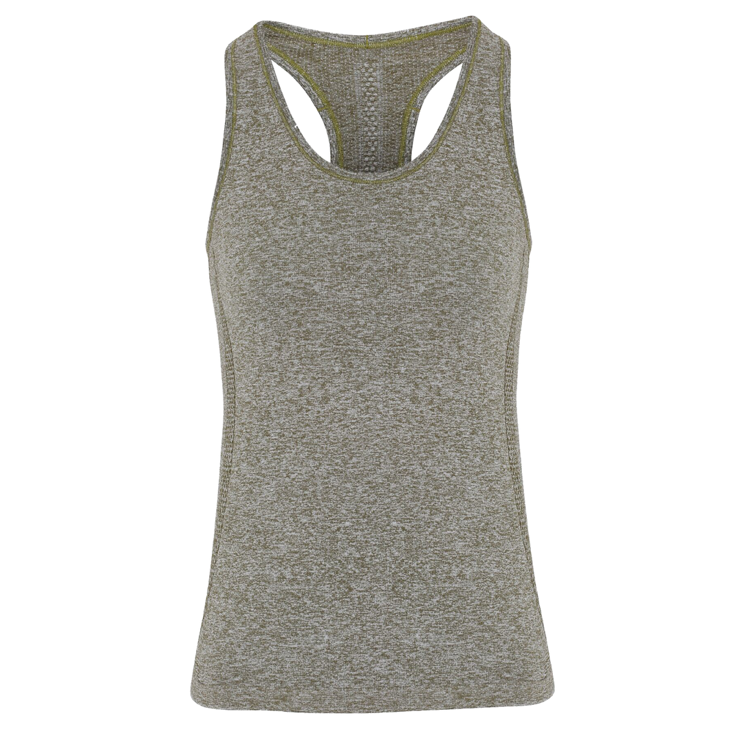 Tri Dri Womens Seamless 3D Vest Sports Top Olive-Custom Teamwear