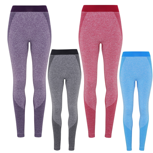 Tri Dri Womens Seamless 3D Gym Leggings TR212-Custom Teamwear