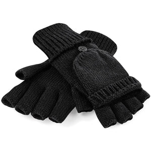 Rural Apparel Fliptop Winter Gloves Black - BrandClearance