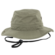 Load image into Gallery viewer, Flexfit Premium Angler Cargo Hat YP074 Olive Green-Custom Teamwear