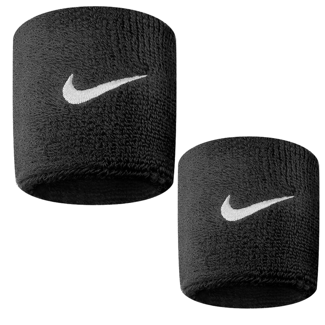 Nike Swoosh Sports Sweat Wristbands NK280 Black-Custom Teamwear