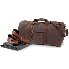 Load image into Gallery viewer, Adonis & Grace Luxury Vintage Canvas Holdall