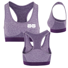 Load image into Gallery viewer, Adonis & Grace 3D Seamless Multi Fit Sports Bra Purple