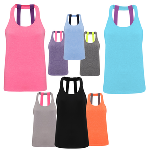 Tri Dri Double Strap Training Yoga Vest TR028 PRINTED-Custom Teamwear