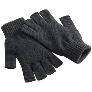 Beechfield Fingerless Winter Gloves Charcoal BC491-Custom Teamwear