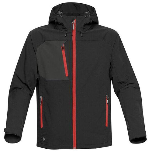 StormTech Sindwinder Softshell Jacket ST165 Black Red-Custom Teamwear