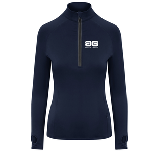 Adonis & Grace Womens Cool Flex Half Zip Navy-Custom Teamwear