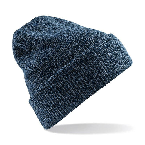 STREET Apparel Heritage Style Beanie Marl Hat-Hat-stREET Apparel-Petrol Blue-BrandClearance