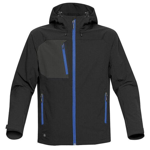 StormTech Sindwinder Softshell Jacket ST165 Black Blue-Custom Teamwear