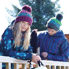 Load image into Gallery viewer, Adonis & Grace Corkscrew Beanie Hat Retro Blue - BrandClearance