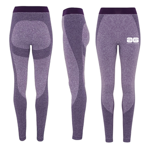 Adonis & Grace Ladies Seamless 3D Gym Leggings Purple