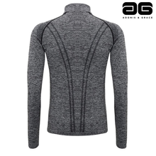 Load image into Gallery viewer, Adonis & Grace Seamless 3D Multi Fit Zip Top Grey